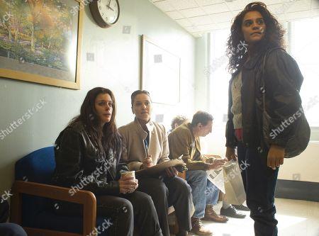Kim Director as Shay, Margarita Levieva as Abigail 'Abby' Parker and Sepideh Moafi as Loretta