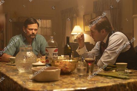 Chris Bauer as Bobby Dwyer and Michael Gandolfini as Joey Dwyer