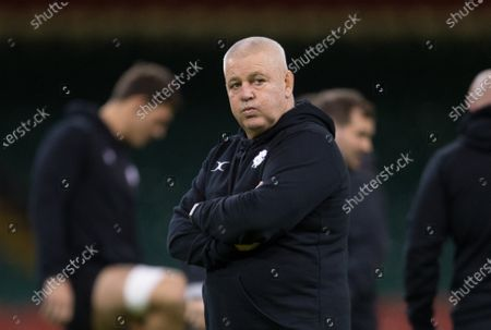 Stock Image of Barbarians Head coach Warren Gatland  during the Barbarians Captain's Run at the Principality Stadium ahead of their match against Wales
