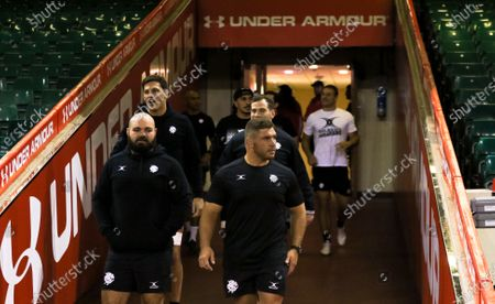 Stock Picture of Team members make their way down the tunnel during the Barbarians Captain's Run at the Principality Stadium ahead of their match against Wales