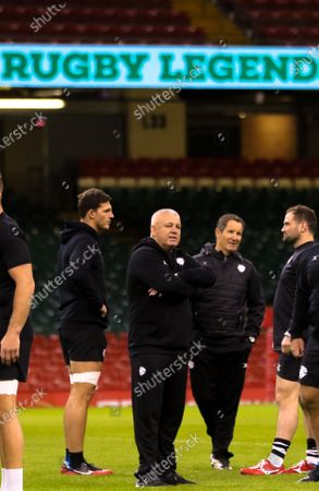 Stock Photo of Barbarians Head coach Warren Gatland  during the Barbarians Captain's Run at the Principality Stadium ahead of their match against Wales