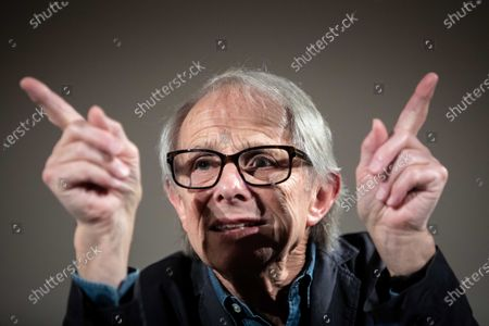 Ken Loach attends an event to mark the 25th anniversary of his film 'Land and Freedom' at the University of Valencia, in Valencia, eastern Spain, 29 November 2019.