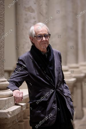 Ken Loach poses for photographs as he attends an event to mark the 25th anniversary of his film 'Land and Freedom' at the University of Valencia, in Valencia, eastern Spain, 29 November 2019.