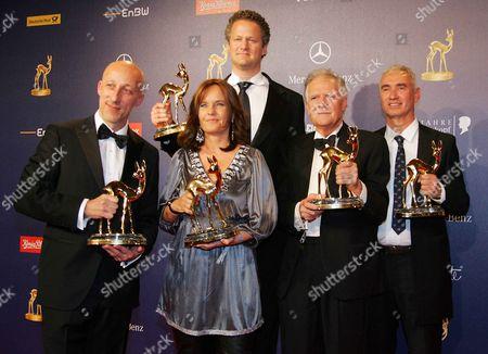Oliver Hirschbiegel, Caroline Link, Florian Henckel von Donnersmarck, Michael Ballhaus, Roland Emmerich at the 61st Bambi Awards in Potsdam