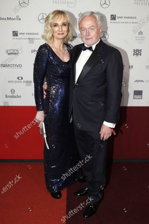 The vice president of the German Parliament and vice chairman of the Free Democratic Party (FDP) Wolfgang Kubicki (R) and his wife Annette Marberth-Kubicki attend the Federal Press Ball (Bundespresseball) in Berlin, Germany, 29 November 2019. The event takes place for the 68th time.