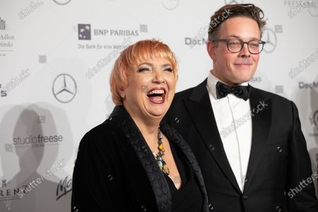 Vice-president the German parliament the Bundestag Claudia Roth (L) and Green party member Konstantin von Notz attend (R) the Federal Press Ball (Bundespresseball) in Berlin, Germany, 29 November 2019. The event takes place for the 68th time.