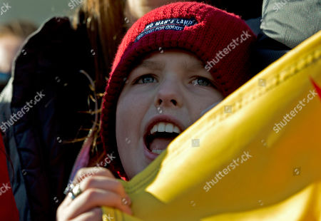 """Iain Armitage an 11-year-old actor, protest during the """"Fire Drill Fridays"""" protest, calling on Congress for action to address climate change, on Capitol Hill in Washington"""