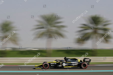 Renault driver Daniel Ricciardo of Australia steers his car during the third free practice at the Yas Marina racetrack in Abu Dhabi, United Arab Emirates, . The Emirates Formula One Grand Prix will take place on Sunday