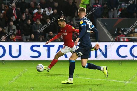 Goal - Andreas Weimann (14) of Bristol City  scores a goal to make the score 5-1 during the EFL Sky Bet Championship match between Bristol City and Huddersfield Town at Ashton Gate, Bristol