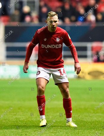 Andreas Weimann (14) of Bristol City during the EFL Sky Bet Championship match between Bristol City and Huddersfield Town at Ashton Gate, Bristol