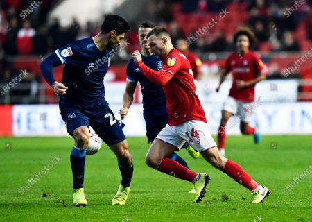 Andreas Weimann (14) of Bristol City on the attack during the EFL Sky Bet Championship match between Bristol City and Huddersfield Town at Ashton Gate, Bristol