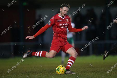 Matt Johnson of Hornchurch during Hornchurch vs Bognor Regis Town, BetVictor League Premier Division Football at Hornchurch Stadium on 30th November 2019