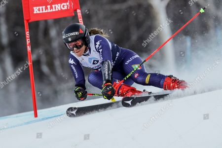 Italy's Sofia Goggia competes during an alpine ski, women's World Cup giant slalom in Killington, Vt