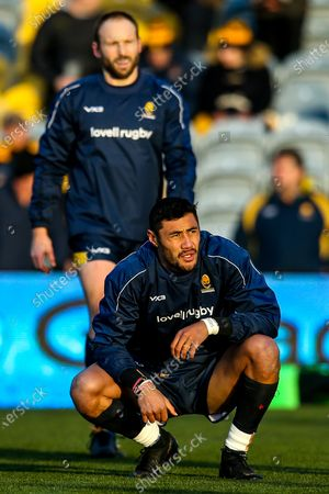 Stock Image of Melani Nanai and Chris Pennell of Worcester Warriors