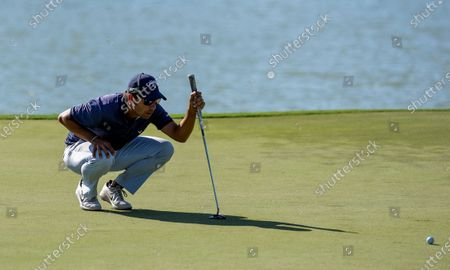 Pablo Larrazabal of Spain in action on the 15th green during the third day of the Dunhill Championship at the Leopard Creek Golf Course in Nelspruit, South Africa, 30 November 2019.