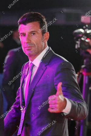 Former Portuguese soccer player Luis Figo arrives for the UEFA EURO 2020 final draw in Bucharest, Romania, 30 November 2019.
