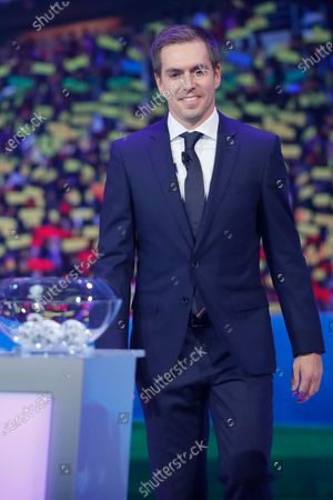 Former German national soccer player Philipp Lahm during the UEFA EURO 2020 final draw in Bucharest, Romania, 30 November 2019.