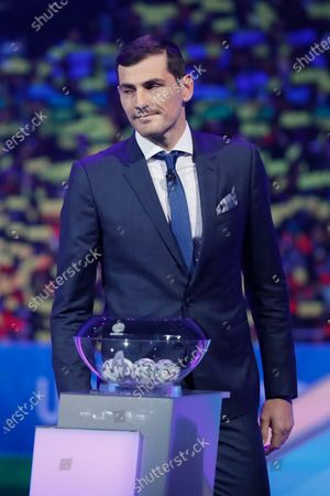 Draw assistant, FC Porto's goalkeeper Iker Casillas during the UEFA EURO 2020 final draw in Bucharest, Romania, 30 November 2019.