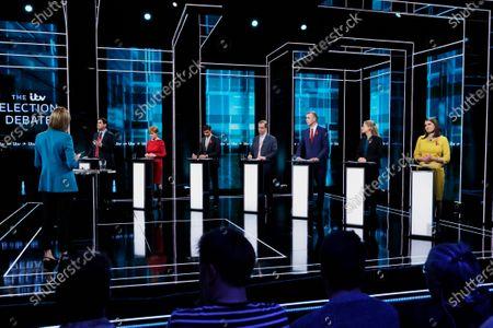 Richard Bergen, SNP Nicola Sturgeon, Conservative Rishi Sunak, Brexit Party Nigel Farage, Playd Cymru Adam Price, Green Party Sian Berry, Liberal Democrat Jo Swinson