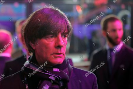 Germany coach Joachim Loew arrives for the draw for the UEFA Euro 2020 soccer tournament finals in Bucharest, Romania