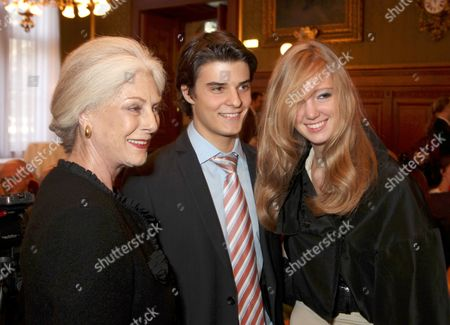 Eleonore Habsburg Lothringen with boyfriend and grandmother Fiona Frances Elaine Campbell-Walter