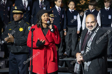 William Scott, London Breed. Police chief William Scott, from left, Mayor London Breed and Macy's Bay Area District VP Aram Beloian join Macy's in celebrating the 30th Annual Tree Lighting in Union Square, in San Francisco