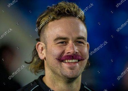 Glasgow Warriors vs Leinster. Glasgow's Ruaridh Jackson celebrates Movember