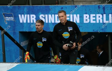 goalkeeper Thomas Kraft, goalkeepertrainer Andreas Koepke   
