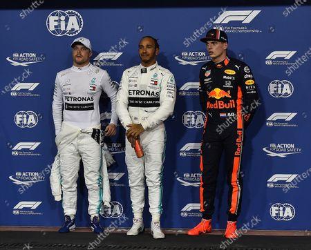 Poleposition for Lewis Hamilton (GB#44), Mercedes-AMG Petronas Motorsport, 2.start place for Valtteri Bottas (FIN#77), Mercedes-AMG Petronas Motorsport, 3.start place for Max Verstappen (NEL#33), Aston Martin Red Bull Racing