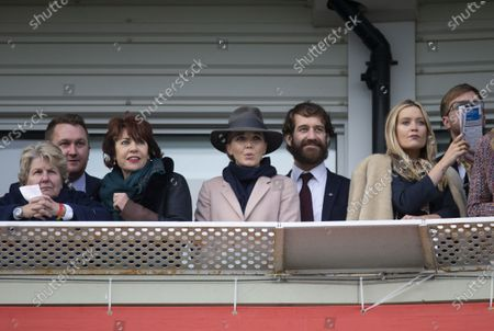 Stock Picture of Sandi Toksvig, Kathy Lette, Victoria Pendleton, Laura Whitmore and Iain Stirling