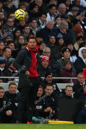 Bournemouth coach Jason Tindall during the Barclays Premier League match between Tottenham Hotspur and Bournemouth at the Tottenham Hotspur Stadium, London, England. On the 30th 19. (Photo by AFS/Espa-Images)