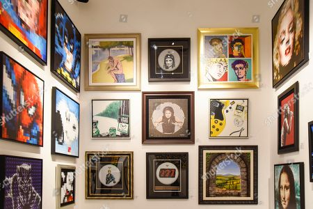 Editorial picture of Michael Cartellone art exhibition, Seminole Hard Rock Hotel & Casino, Miami, USA - 30 Nov 2019
