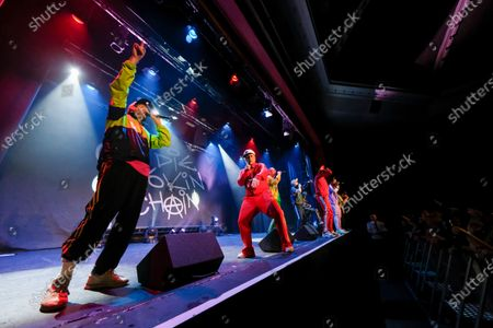 Editorial picture of Goldie Lookin Chain in concert, 15th Anniversary World Tour Of Wales, Grand Pavilion, Porthcawl, Wales, UK - 30 Nov 2019
