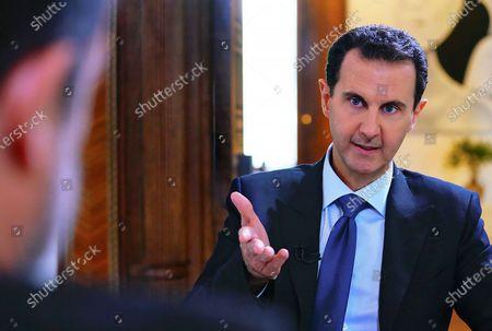 Editorial photo of Syrian President Bashar al-Assad press conference,Damascus, Syria - 29 Nov 2019