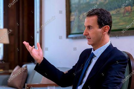 Editorial image of Syrian President Bashar al-Assad press conference,Damascus, Syria - 29 Nov 2019