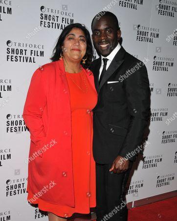 Stock Photo of Gurinder Chadha and Jimmy Akingbola