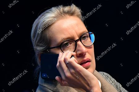 Alternative for Germany party (AfD) faction co-chairwoman in the German parliament Bundestag and deputy chairwoman Alice Weidel during the party convention of the German right-wing 'Alternative for Germany' ('Alternative fuer Deutschland' AfD) in Braunschweig, northern Germany 01 December 2019. The AfD holds its convention in Brunswick on 30 November and 01 December.