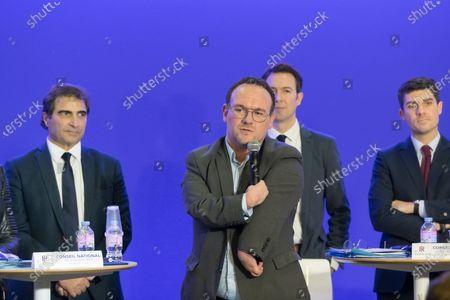 Christian Jacob, Damien Abad, Guillaume Peltier and Aurelien Pradie.