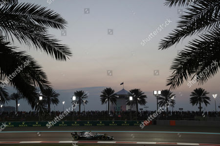 Mercedes driver Valtteri Bottas of Finland steers his car during the Emirates Formula One Grand Prix, at the Yas Marina racetrack in Abu Dhabi, United Arab Emirates, Sunday, Dec.1, 2019