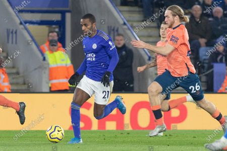 Ricardo Pereira (21) during the Premier League match between Leicester City and Everton at the King Power Stadium, Leicester