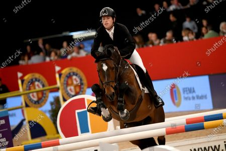 Scottish rider Scott Brash in action during the Longines FEI Jumping World Cup Ifema trophy, during the last day of the Madrid Horse Week held in Madrid, Spain, 01 December 2019.