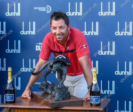 Pablo Larrazabal of Spain celebrates winning the Dunhill Golf Championship at the Leopard Creek Golf Course, Nelspruit, South Africa, 01 December 2019.