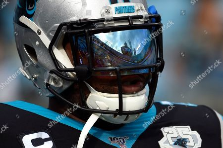 Carolina Panthers offensive guard Trai Turner (70) is seen prior to an NFL football game against the Washington Redskins in Charlotte, N.C