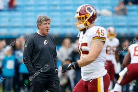 Stock Image of Washington Redskins head coach Bill Callahan is seen prior to an NFL football game against the Carolina Panthers in Charlotte, N.C