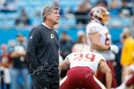 Stock Photo of Washington Redskins head coach Bill Callahan is seen prior to an NFL football game against the Carolina Panthers in Charlotte, N.C