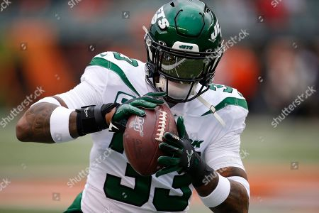 New York Jets strong safety Jamal Adams practices before an NFL football game against the Cincinnati Bengals, in Cincinnati