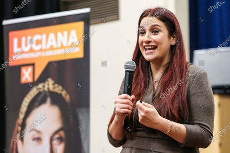 Editorial photo of Liberal Democrats' candidate Luciana Berger campaigning in Finchley, London, UK - 01 Dec 2019
