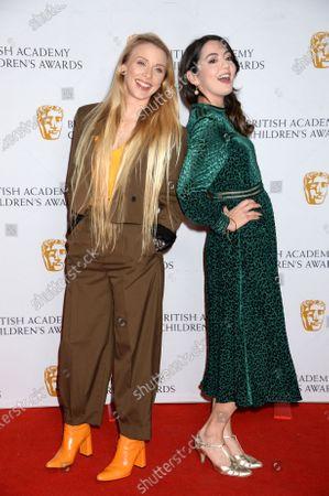 Stock Image of Julia Hardy and Jane Douglas, presenters of the Digital Award