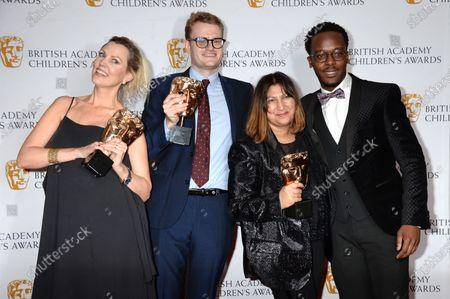 Alvin Owuso-Fordwuo, Ali Quirk, David Metcalf and Nav Raman, creators of 'Leaving Care' - Winners of The Teen Award