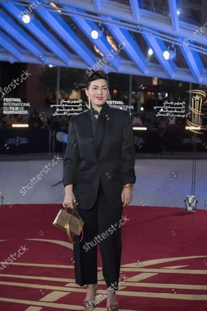 Rebecca Zlotowski attends the tribute to French filmmaker Bertrand Tavernier (unseen) at the 18th annual Marrakech International Film Festival, in Marrakech, Morocco, 01 December 2019. The film festival runs from 29 November to 07 December 2019.